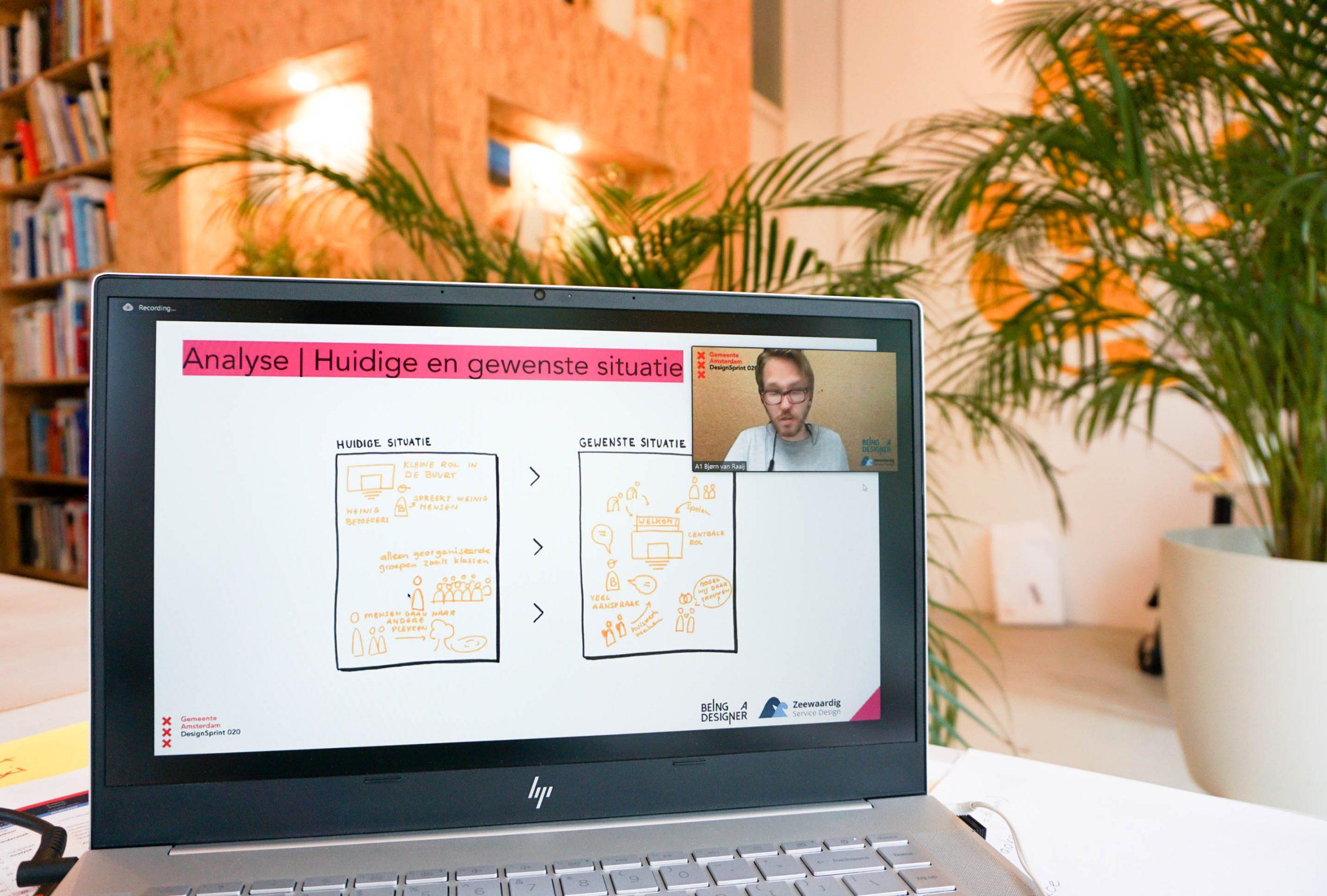 Laptop scherm online design sprint